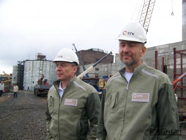 Основной акционер Сибирской генерирующей компании Андрей Мельниченко (справа) и генеральный директор СГК Михаил Кузнецов (слева)