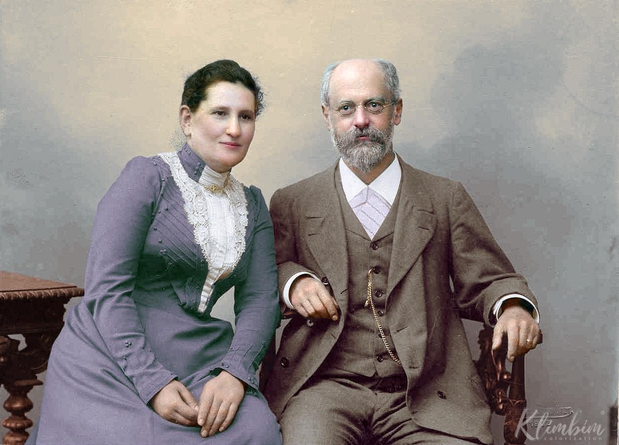 Карл Каутский с женой