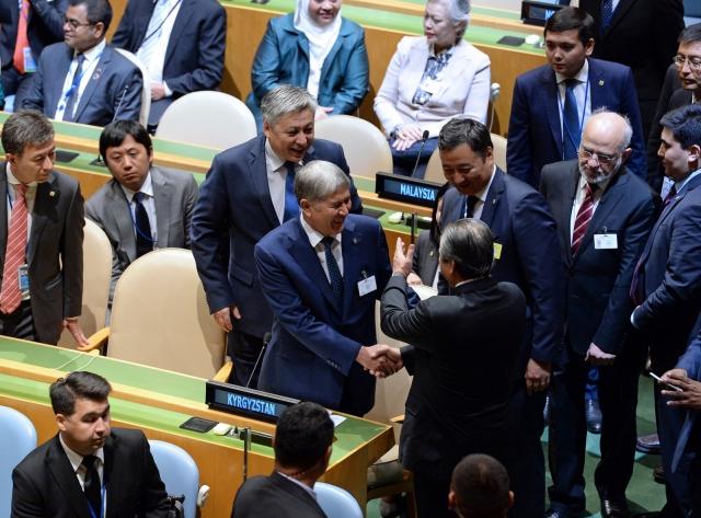 Алмазбек Атамбаев на Генеральной ассамблее ООН