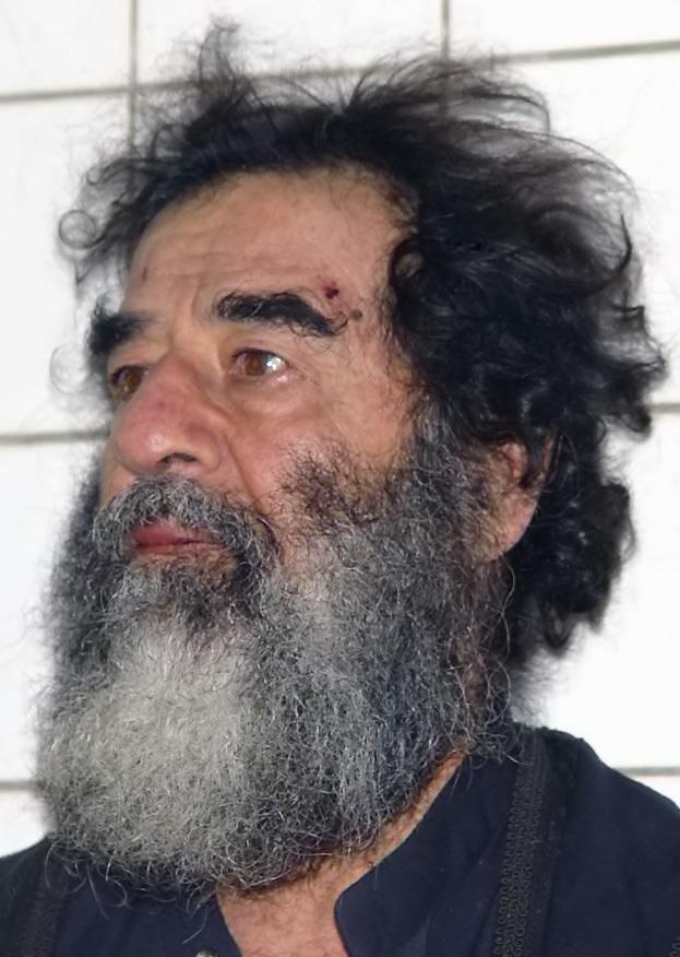 Саддам Хусейн во время ареста. 2003