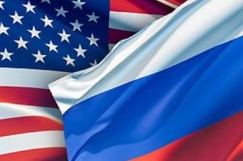 Флаги России и США, Minsvyaz.ru