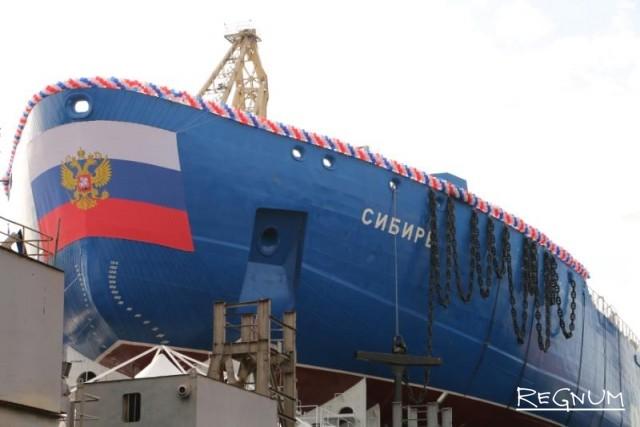 Атомный ледокол «Сибирь» спущен на воду на Балтзаводе в Петербурге