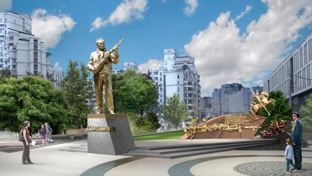 Рабочих, демонтировавших часть монумента Калашникову, задержала полиция