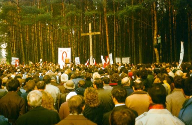 Митинг Белорусского народного фронта. 1989 год