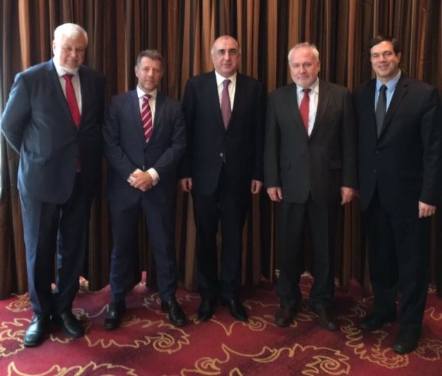 Встреча Эльдара Мамедъярова с сопредседателями Минской группы ОБСЕ