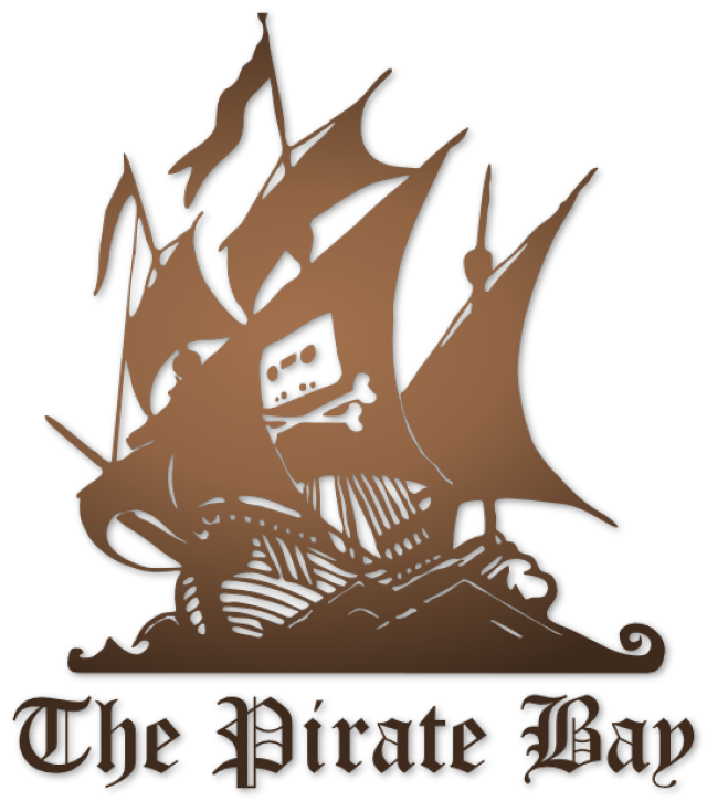 Логотип торрент-трекера The Pirate Bay