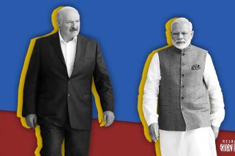 Александр Лукашенко и Нарендра Моди