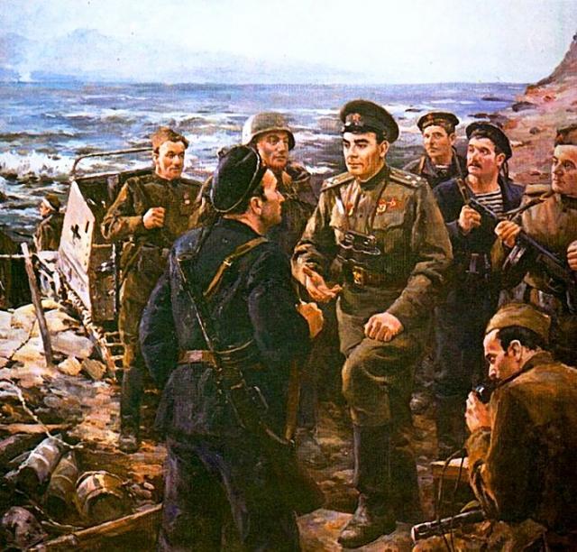 Дмитрий Налбандян. Леонид Ильич Брежнев на Малой земле. 1975