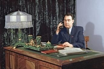 Секретарь ЦК КП Казахстана Л. И. Брежнев. 1954