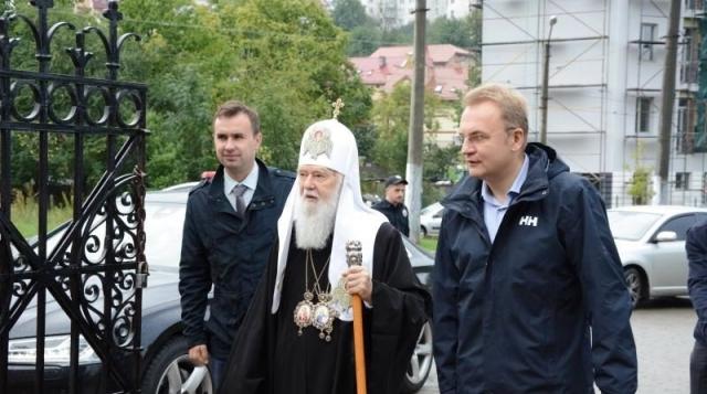 Андрей Садовый и патриарх УПЦ КП Филарет