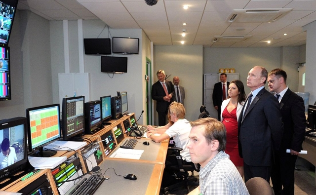 Владимир Путин в гостях у телекомпании Russia Today