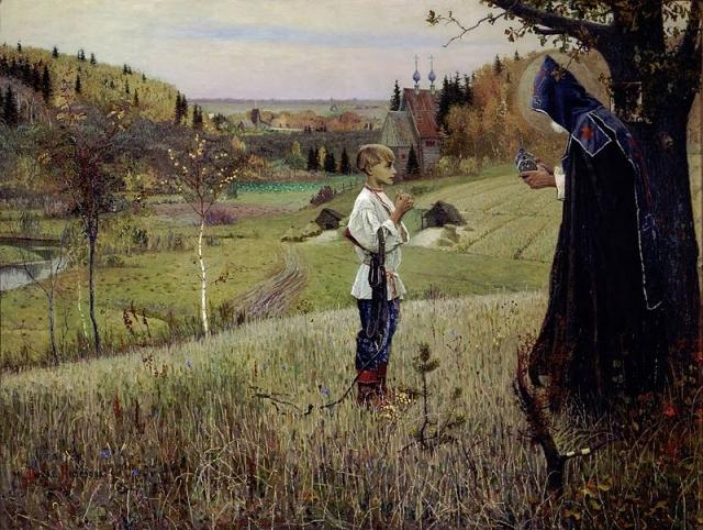 Михаил Нестеров. Видение отроку Варфоломею. 1890