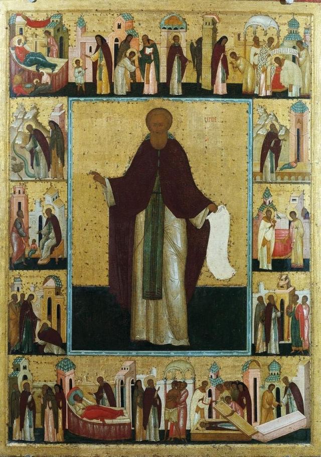 Дионисий. Икона Сергий Радонежский в житии. XV в