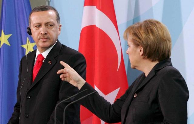 Реджеп Эрдоган и Ангела Меркель