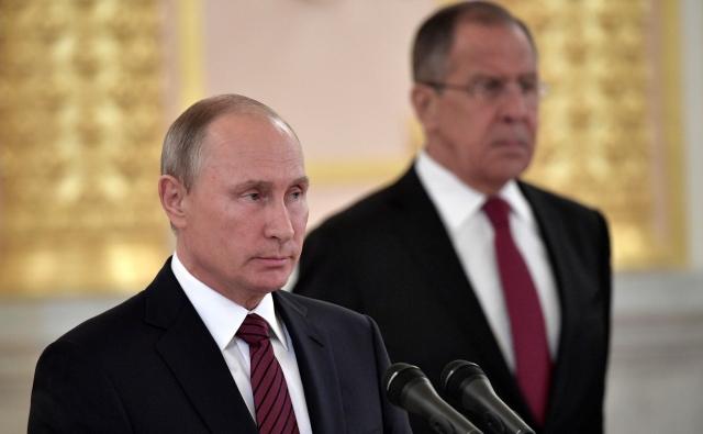 На церемонии вручения верительных грамот послами иностранных государств. Москва, 3 октября 2017 года
