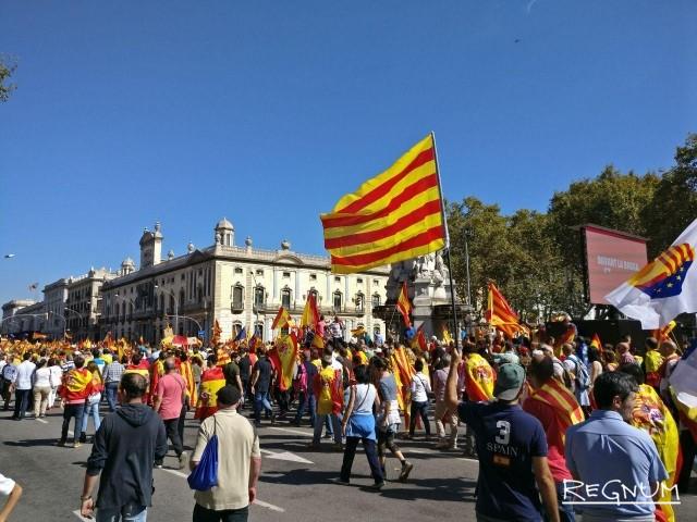 Каталонцы в дни референдума