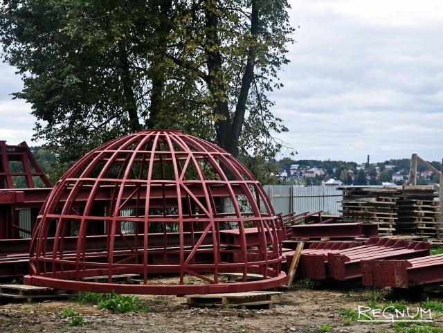 Будущий купол собора