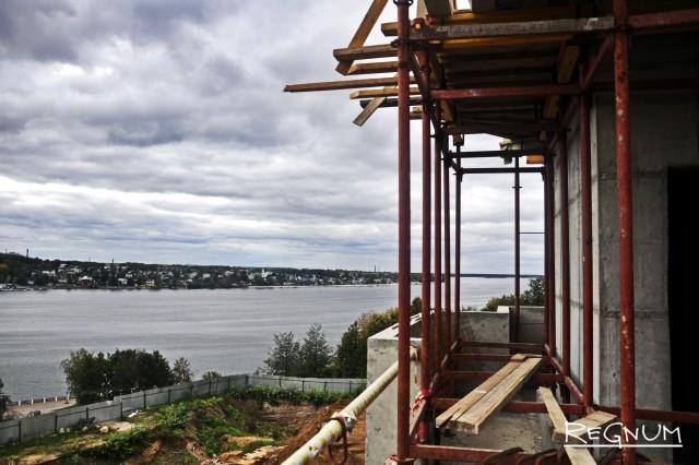 Вид на Волгу с площадки на колокольне. Высота 10 метров