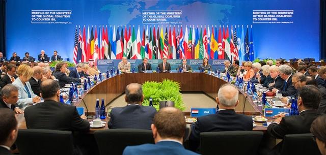 Заседание международной коалиции против игил
