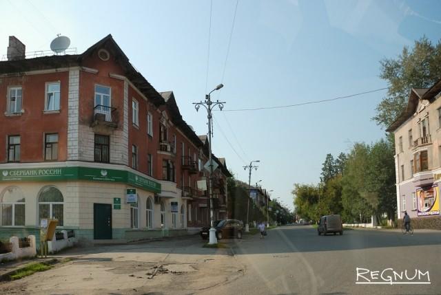 Чусовой. Перекресток на улице Ленина
