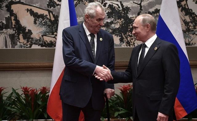 Встреча Владимира Путина и Президента Чехии Милоша Земана. 2017