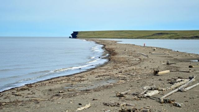 Береговая линия острова Пели, северо-запад Тактояктука, Канада