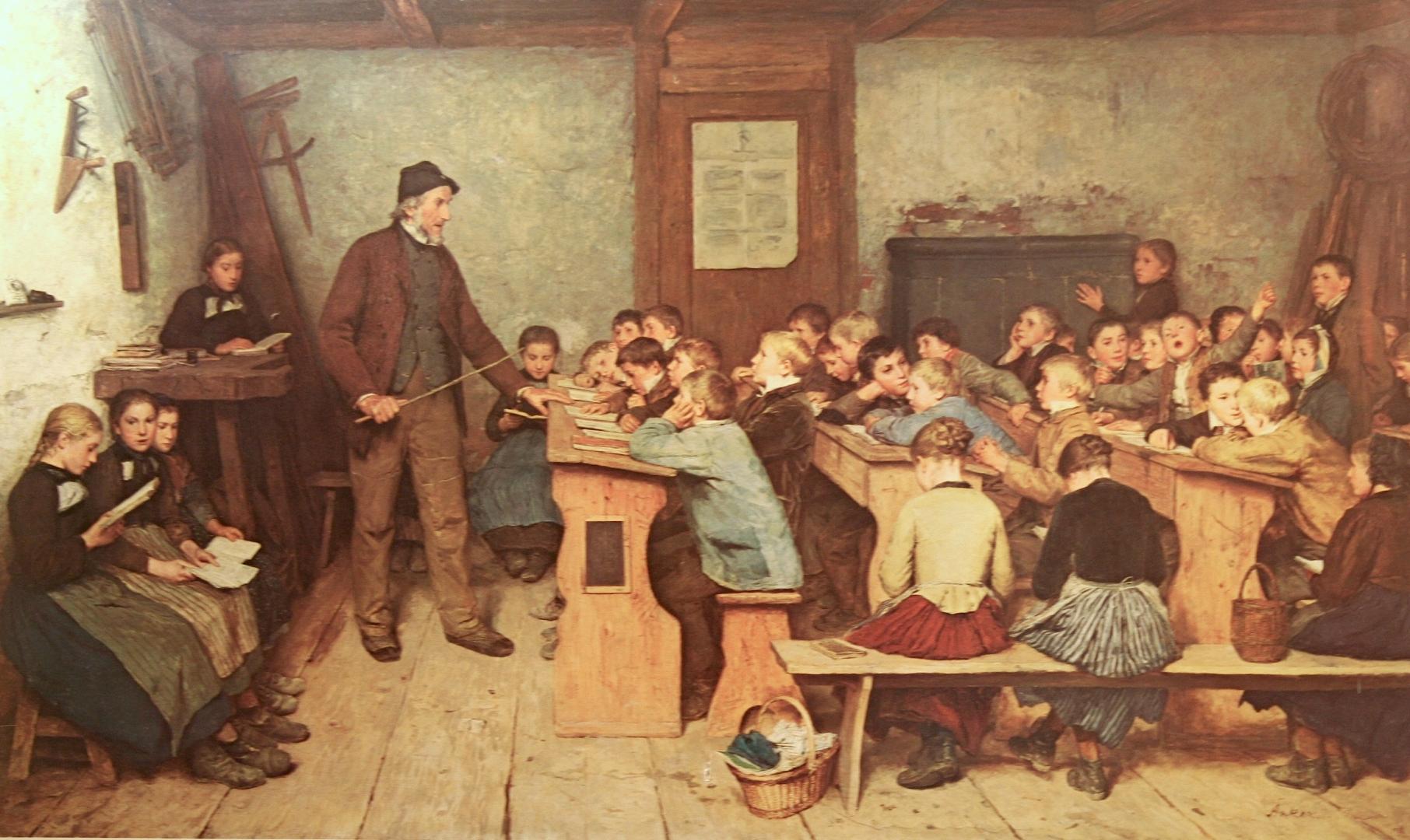 Альберт Анкер. Сельская школа. 1896