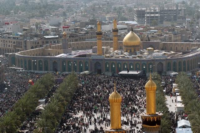 Миллионы мусульман-шиитов собираются вокруг мечети Хусейн в Кербеле