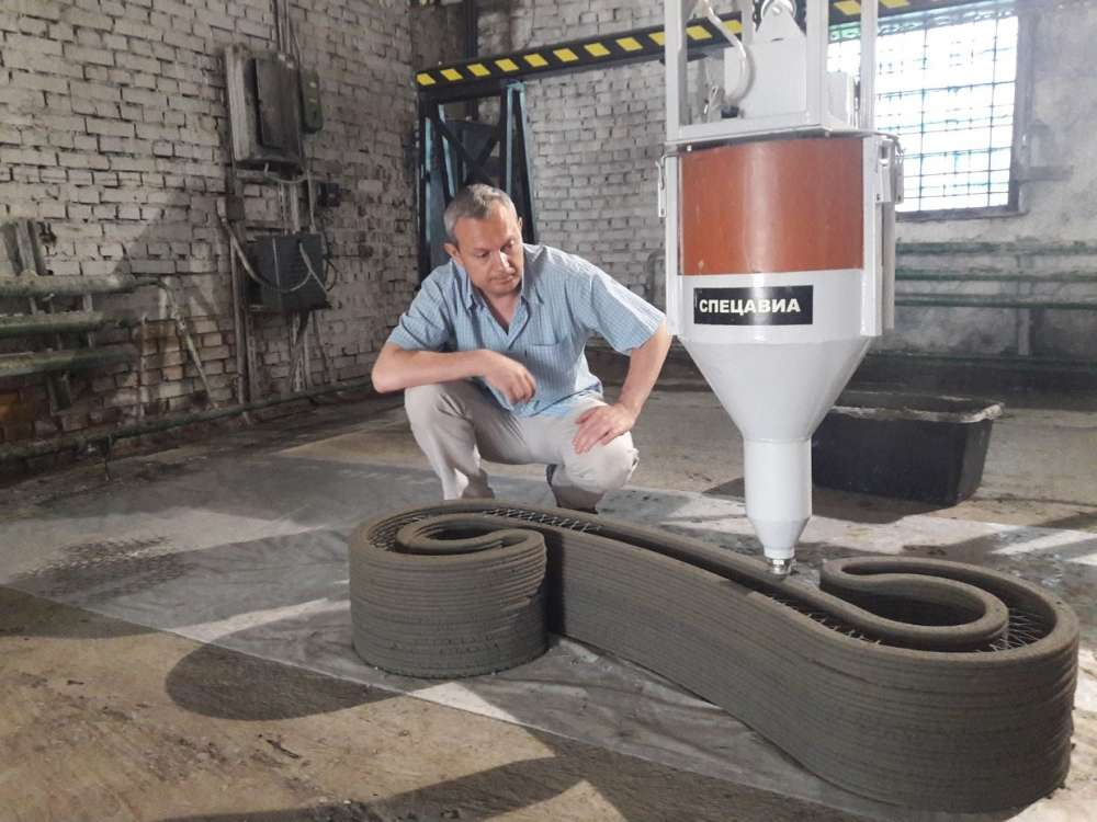 печать цементом