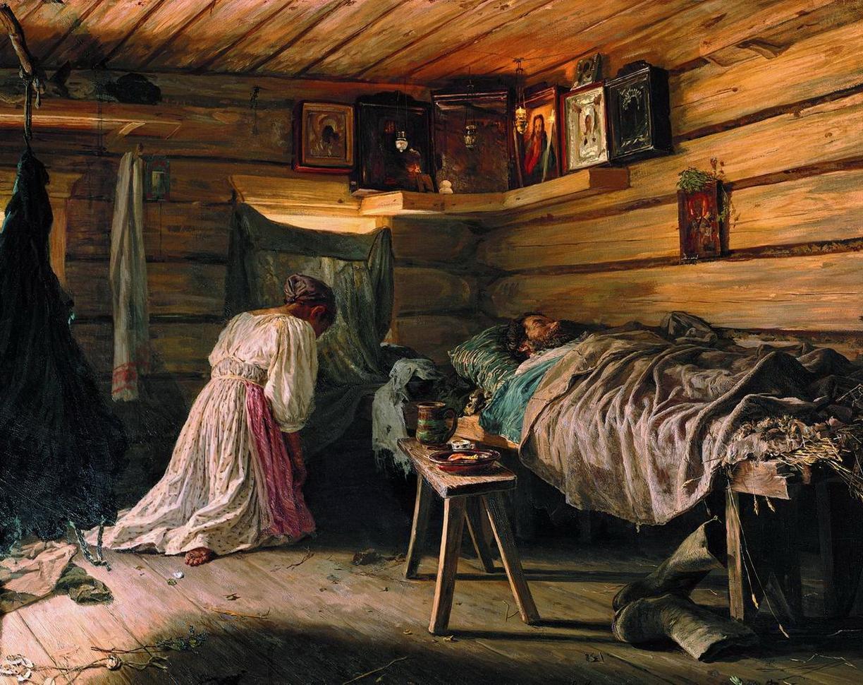 Василий Максимов. Больной муж. 1881