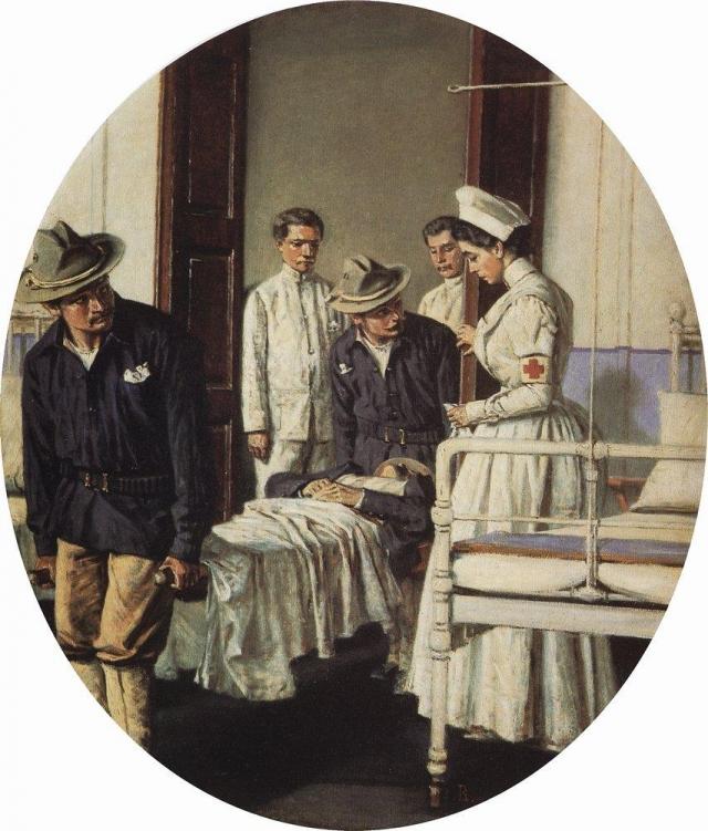 Василий Верещагин. В госпитале. 1901