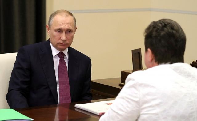 Встреча Владимира Путина с губернатором Владимирской области Светланой Орловой
