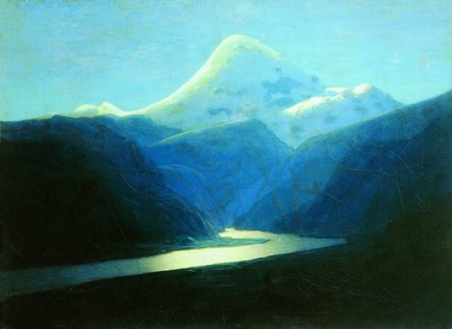 Архип Куинджи. Эльбрус вечером. 1898-1908