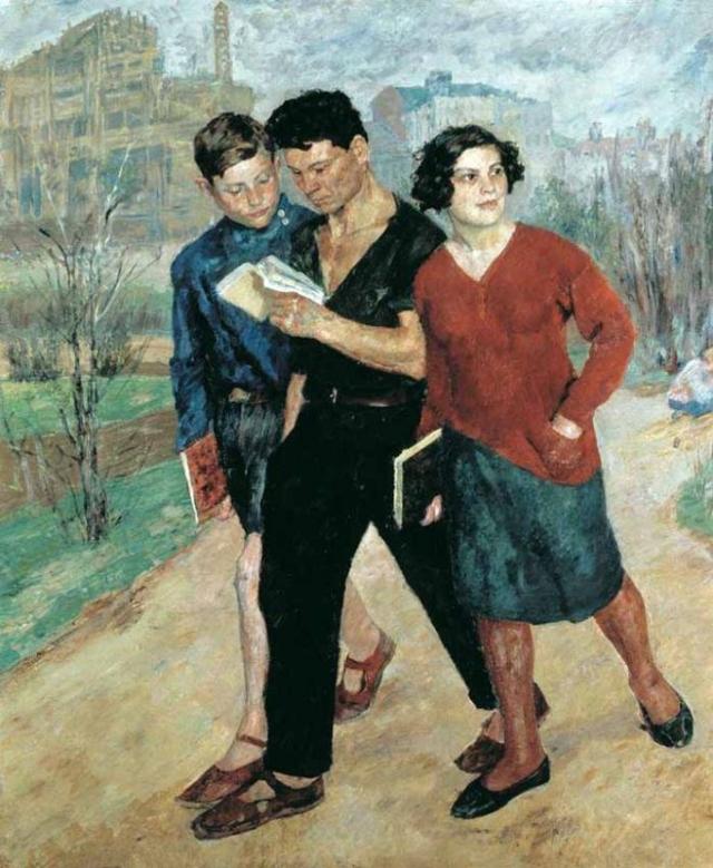 Борис Владимирович Иогансон. Вузовцы (Рабфак идет). 1928