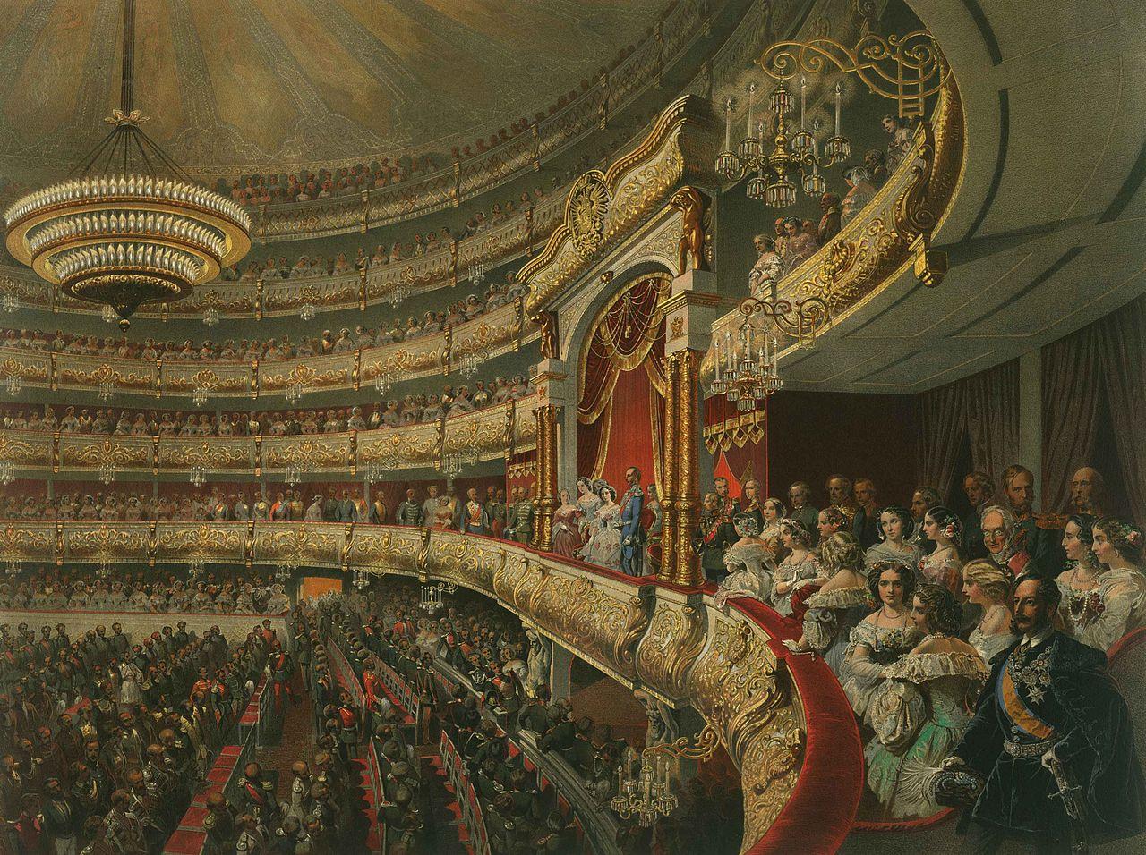 Михаил Зичи. Вид на царскую ложу Большого театра. 1856