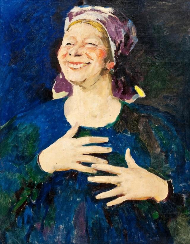 Филипп Малявин. Смеющаяся баба. 1900-е