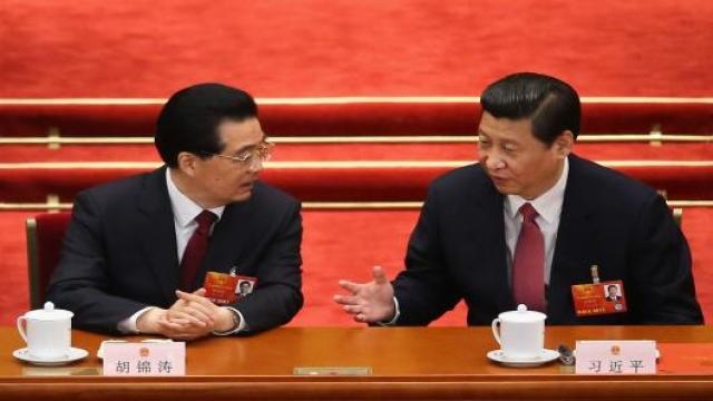 Генеральный секретарь ЦК КПК и председатель КНР Си Цзиньпин и глава правительства Ли Кэцян