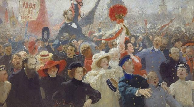 Илья Репин. 17 Октября 1905