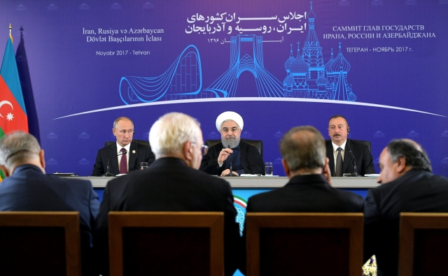 Владимир Путин, Хасан Рухани, Ильхам Алиев