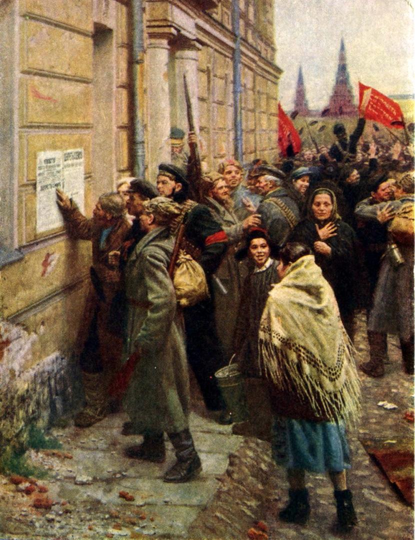 Ахмед Китаев. Первые декреты Советской власти