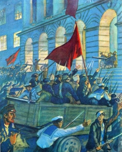 Борис Кустодиев. Смольный в дни Октябрьской революции. 1926