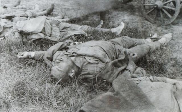 Убитый российский солдат. 1914