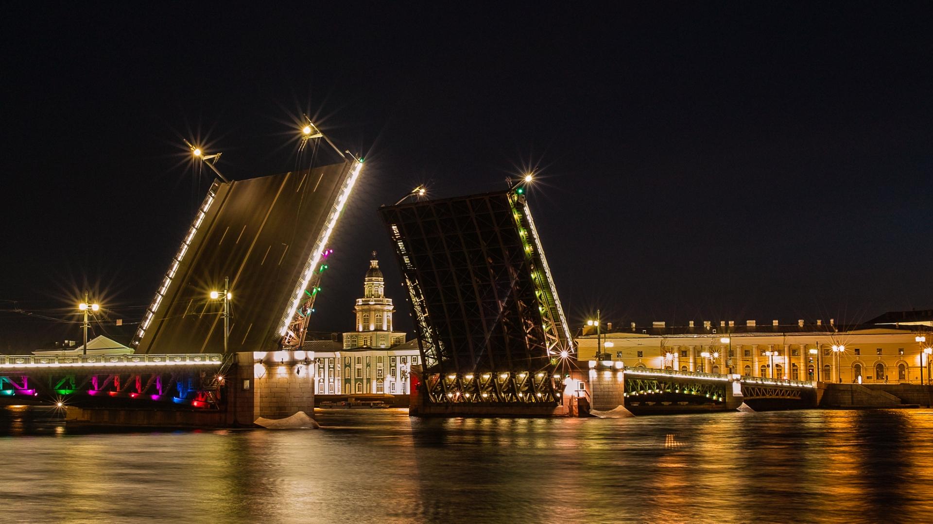 Картинки для рабочего стола мосты петербурга
