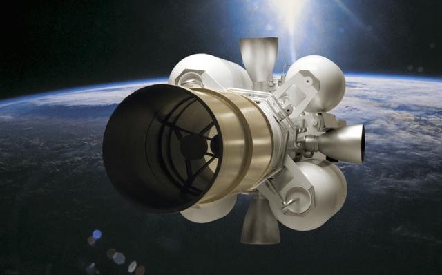 Боевой элемент Exoatmospheric Kill Vehicle на орбите Земли