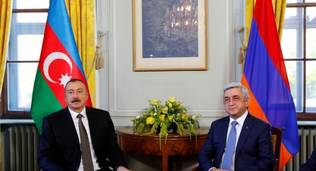 Встреча Сержа Саргсяна и Ильхама Алиева в Женеве. 16 октября 2017