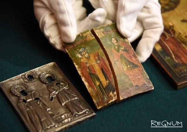 В Русский музей переданы старинные иконы, изъятые ФСБ у преступников