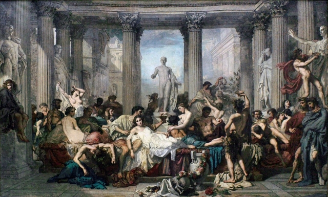 Томас Кутюр. Римляне Декаданса.1847