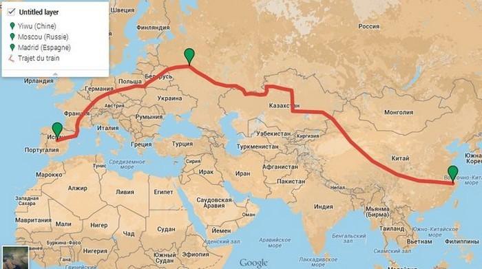 Железная дорога из Китая в Европу. Карта