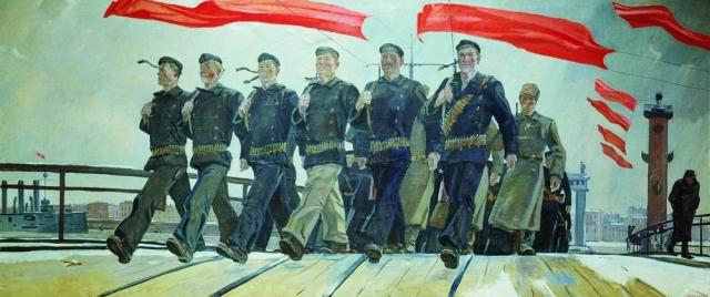 Александр Дейнека. Левый марш. 1941