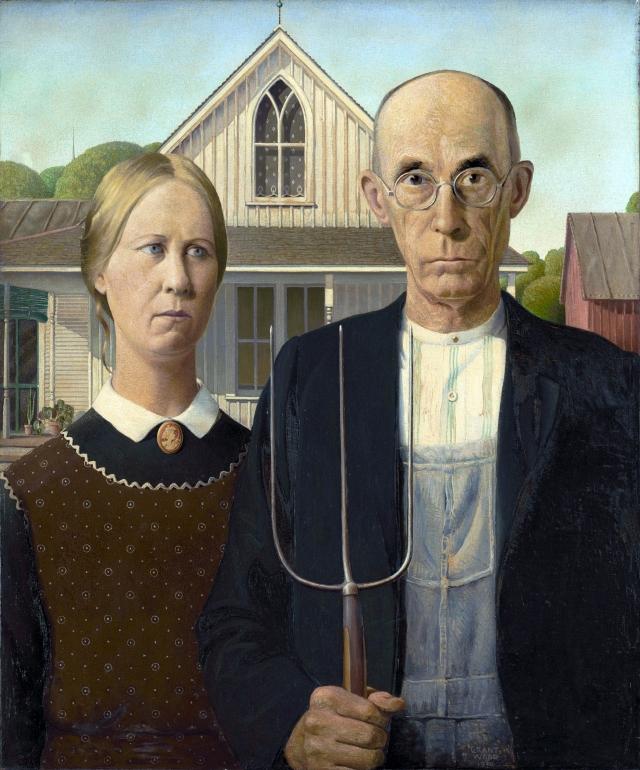 Грант Вуд. Американская готика. 1930